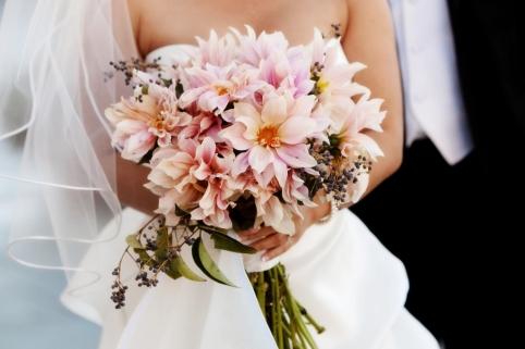 Wild Dahlia Bridal Bouquet San Diego Wedding Planner InStyle Event Planning