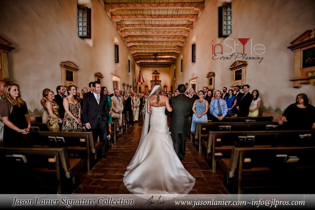 precessional mission basilica wedding ceremony san diego